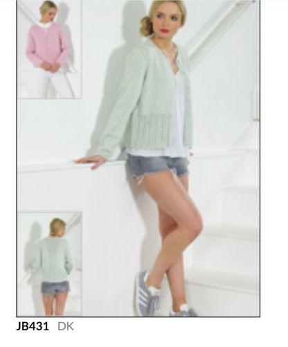 Ladies Knitting Pattern Cardigan JB431