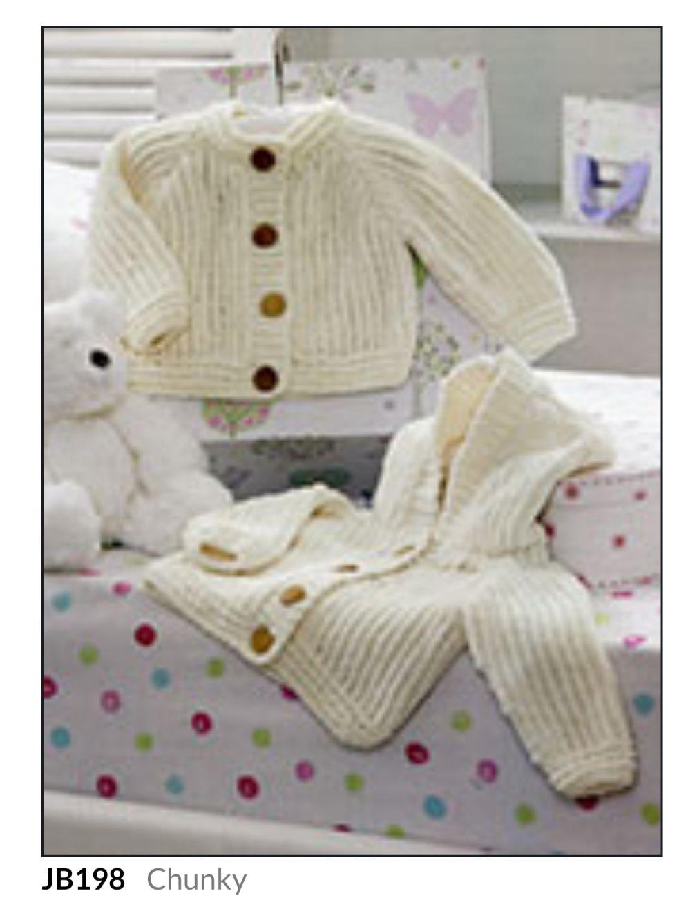 Childrens Knitting Pattern Hooded Cardigan JB198