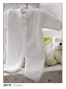 Childrens Knitting Pattern All in One Suit JB176