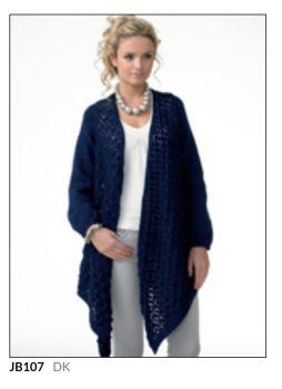 Ladies Knitting Pattern Cardigan JB107
