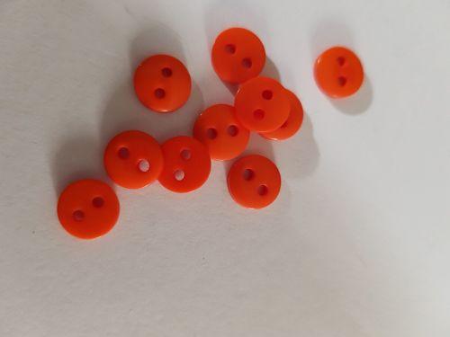 Orange Button 9mm (Pack of 15)