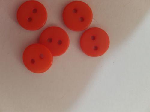 Orange Button 12mm (Pack of 12)