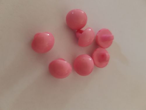 Pink Shank Buttons 10mm (Pack of 15)