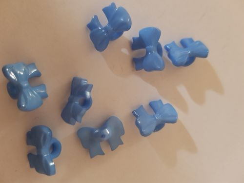 Blue Bow Button 14mm  (Pack of 20)