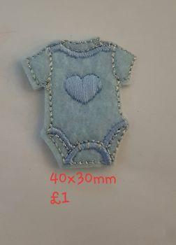 Baby Vest Motif 40x30mm - Blue