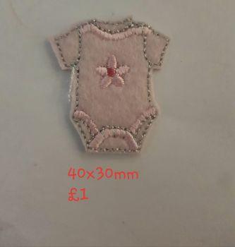 Baby Vest Motif 40x30mm - Pink