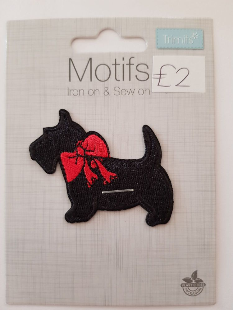 Scottie Dog Motif 56x45mm