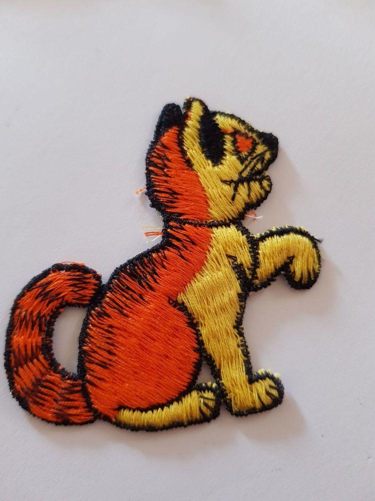 Cat Motif 60x58mm Orange / Yellow