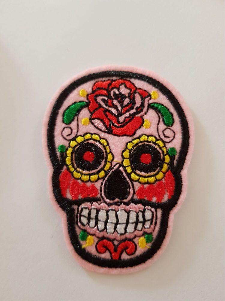 Sugar Skull 72x52mm - Pink
