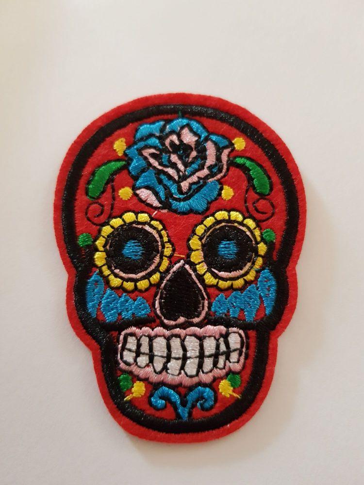 Sugar Skull 72x52mm - Red