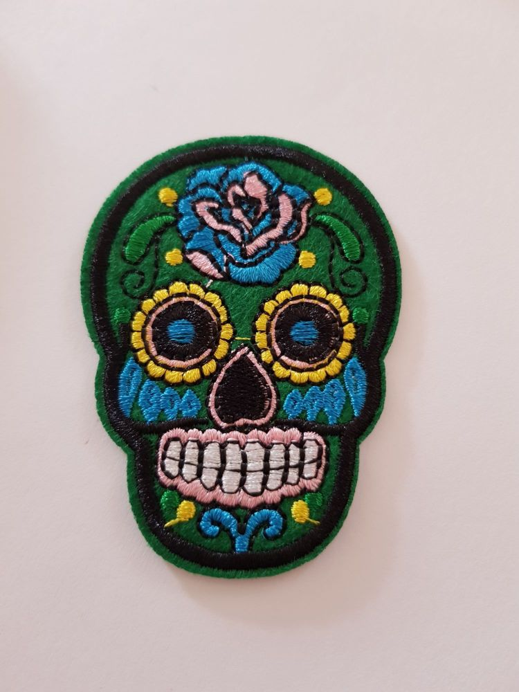 Sugar Skull 72x52mm - Green
