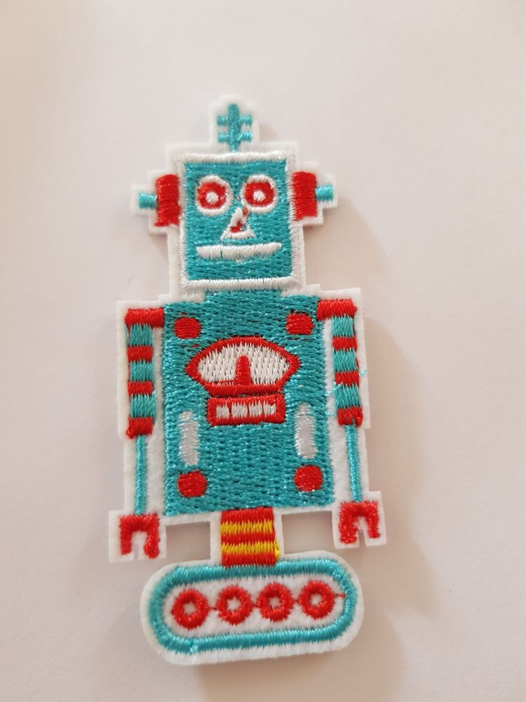 Robot Motif 80x35mm Blue/Red