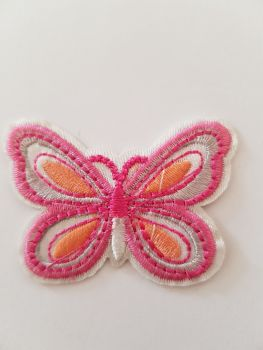 Butterfly Motif 50x35mm Pink / Orange