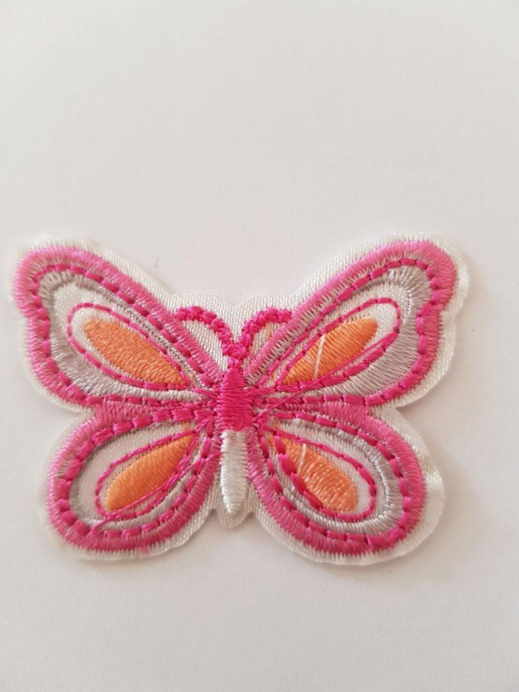 Butterfly Motif 50x35mm Pink / Orange