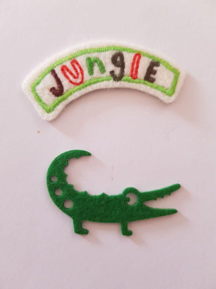 Jungle / Crocodile Motif 54mm and 45mm