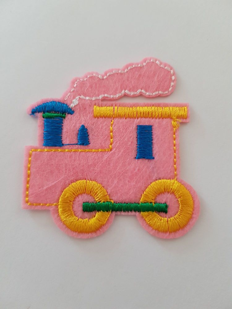 Tractor Motif 49x55mm- Pale Pink