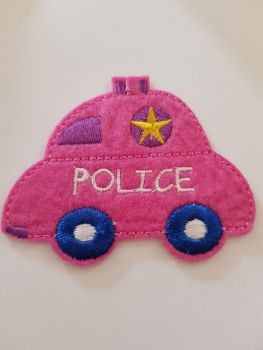 Car (Police) Motif - Cerise 77x60mm