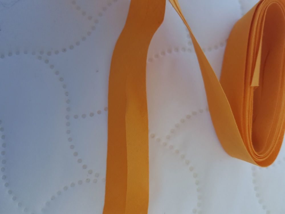 Yellow Cotton Bias Binding 22mm  (2 metres)