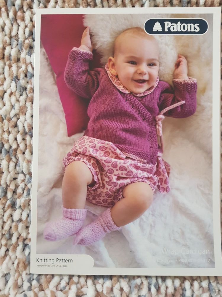 Baby Knitting Pattern Crossover Cardigan P5372