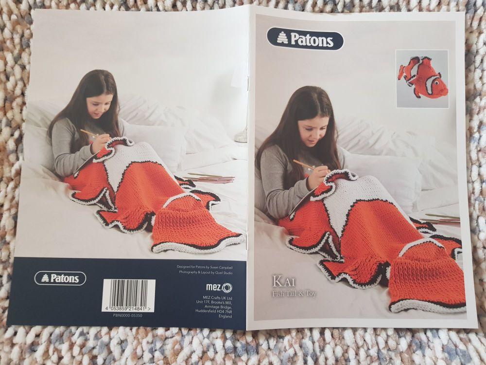 Adult Knitting Pattern Kai Fish Tail and Toy P5350