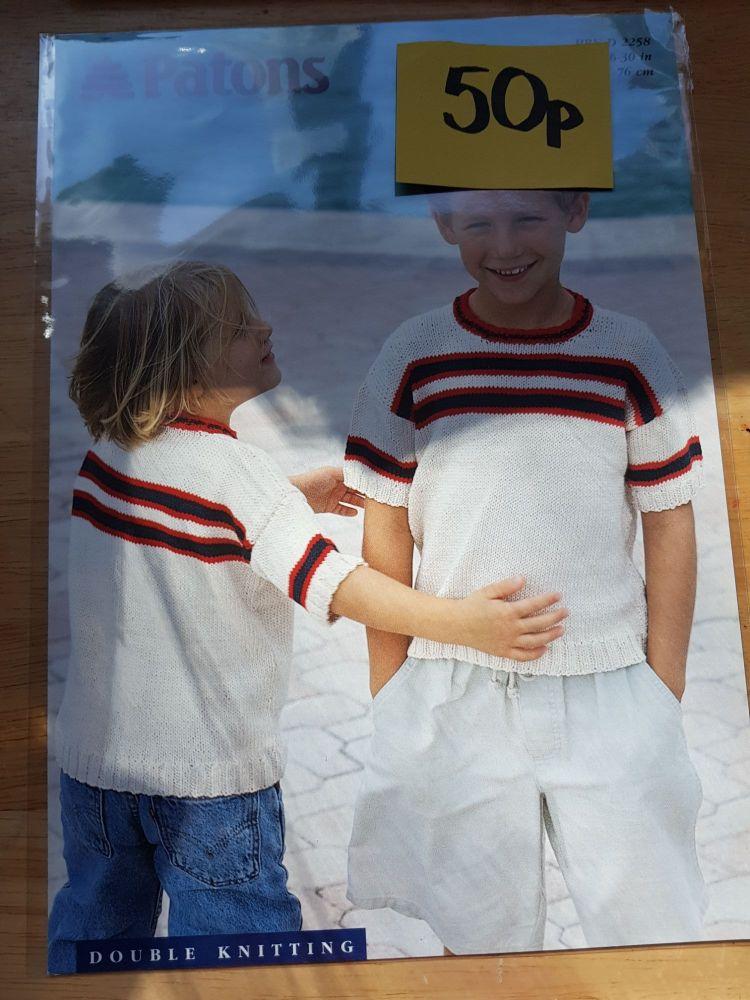 Childrens Knitting Pattern Jumper P2258