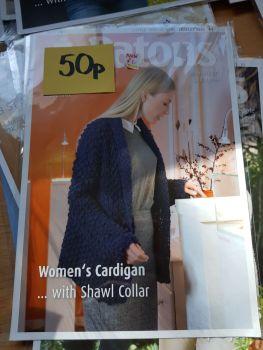 Ladies Knitting Pattern Cardigan P4038