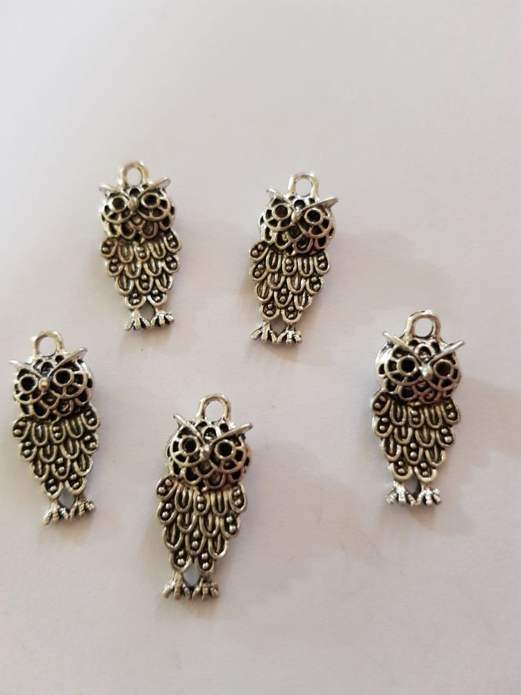 Owl Charms (Pack of 5) CH04
