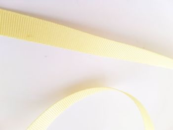 Yellow / Lemon Grosgrain Ribbon 10mm ( per metre)