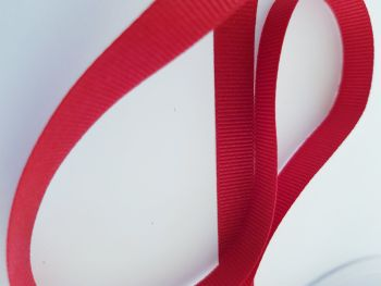 Red Grosgrain Ribbon 10mm ( per metre)
