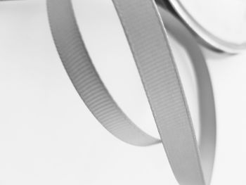 Grey Grosgrain Ribbon 10mm ( per metre)