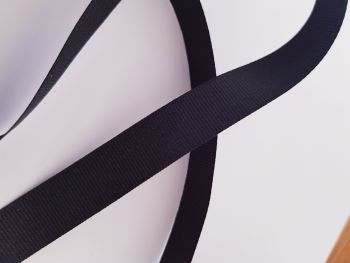 Black Grosgrain Ribbon 15mm ( per metre)