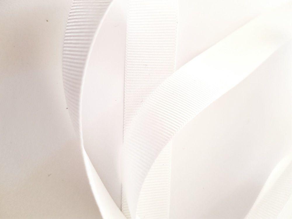 White Grosgrain Ribbon 16mm ( per metre)