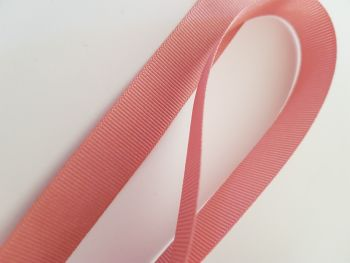 Dusky Pink Grosgrain Ribbon 15mm ( per metre)