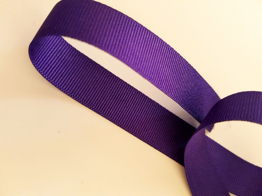 Purple 16mm Grosgrain Ribbon (per metre)