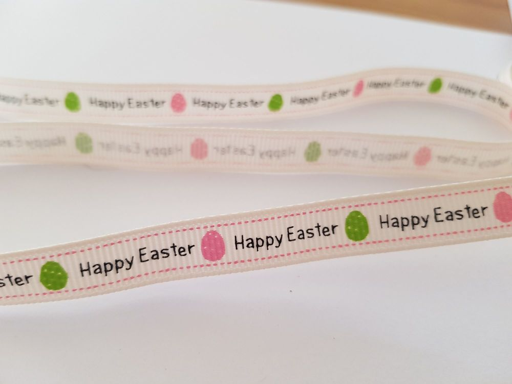 Easter  Grosgrain Ribbon 9mm ( per metre) Was 50p per metre