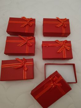 Red Boxes 80x50x27mm (Pack of 6)