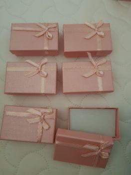 Pink / Gold  Boxes 80x50x27mm (Pack of 6)