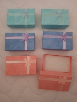 Pink , Blue , Lilac  Boxes 80x50x27mm (Pack of 6)