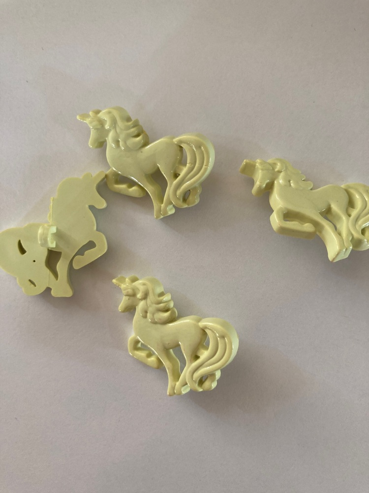 Yellow/ Lemon Unicorn Button (each)