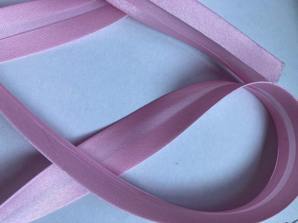 Pink Satin Bias Binding 20mm ( per metre)