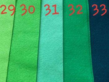 Green (Bottle) Premium Craft Felt A4 (each) Shade 33