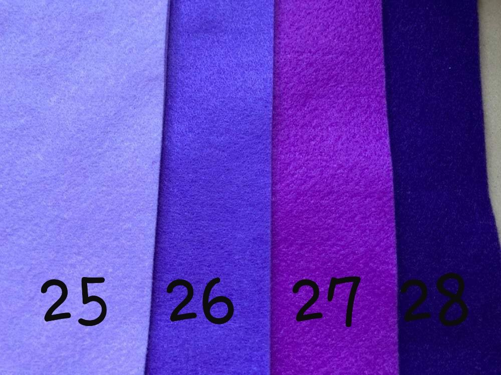 Purple (Lilac) Premium Craft Felt A4 (each) Shade 25