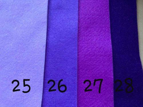 Purple (Violet) Premium Craft Felt A4 (each) Shade 28
