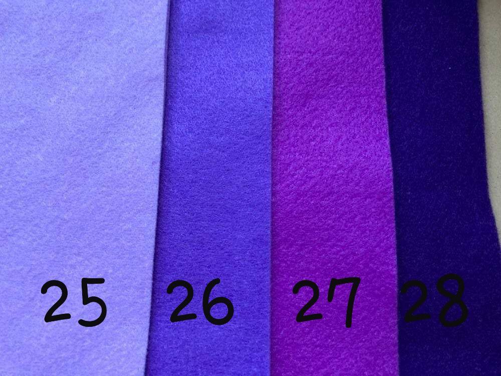 Purple  Premium Craft Felt A4 (each) Shade 28