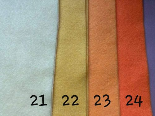 Orange Premium Craft Felt A4 (each) Shade 24