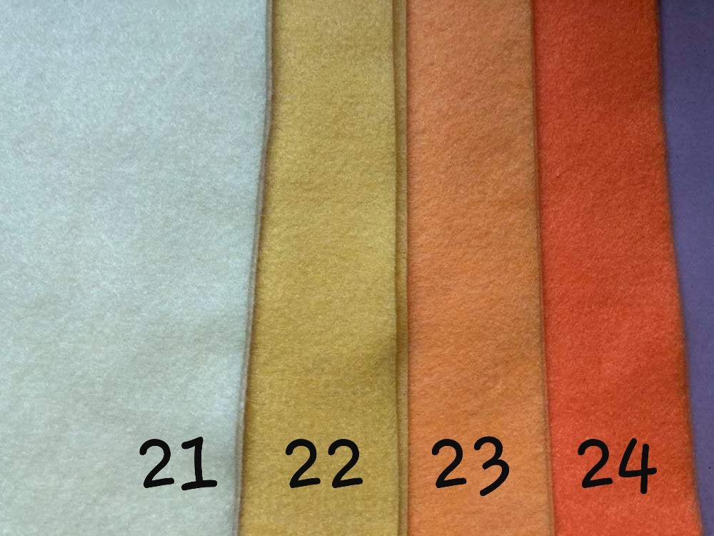 Orange (Pale) Premium Craft Felt A4 (each) Shade 23