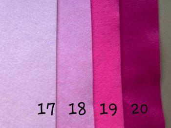 Pink  Premium Craft Felt A4 (each) Shade 18