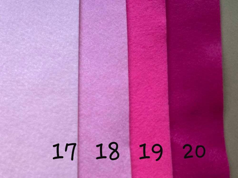 Pink (Pale) Premium Craft Felt A4 (each) Shade 17