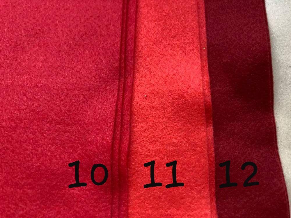 Red (Deep) Premium Craft Felt A4 (each) Shade 12