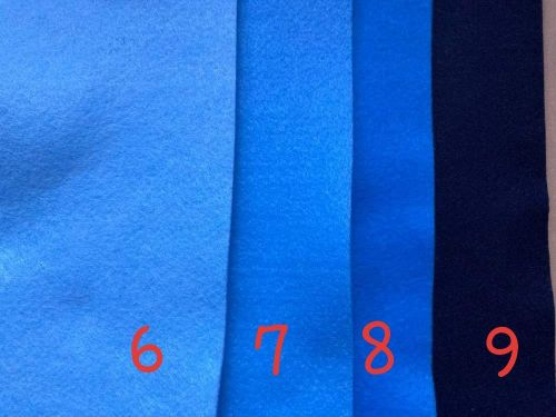 Blue (Pale Blue- lighterthan shown) Premium Craft Felt A4 (each) Shade 6